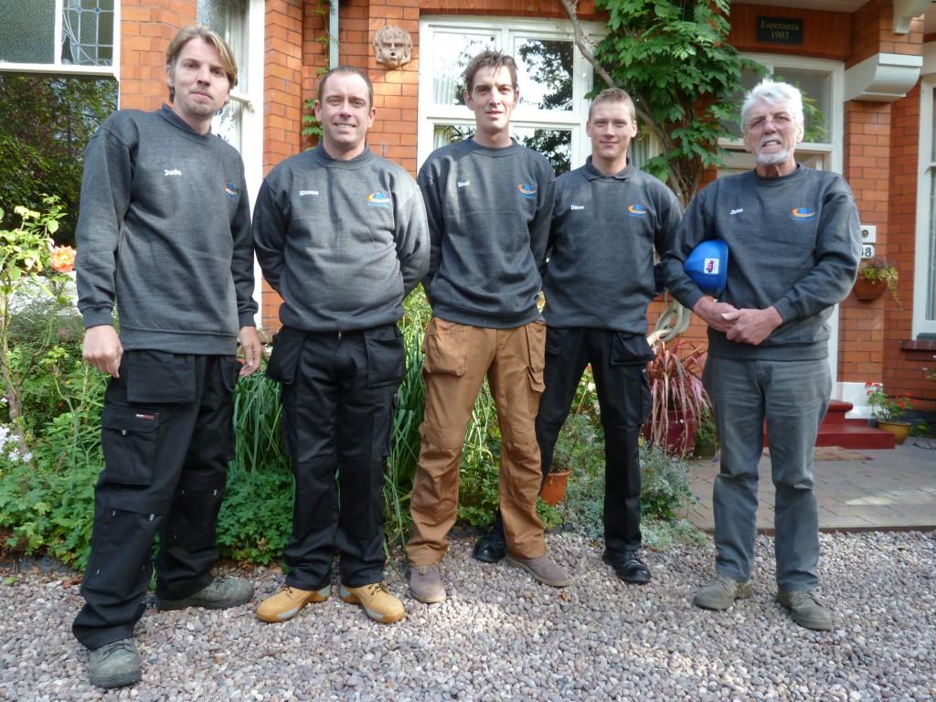 jms roofing birmingham team