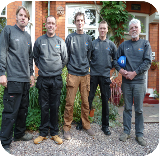the jms roofing birmingham team